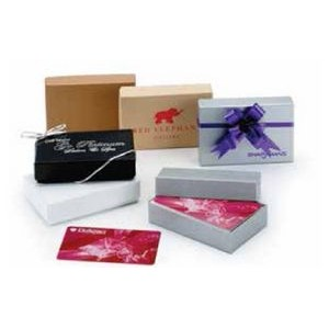 White Gloss & Colored Gift Card Boxes (Unprinted) (3 1/2