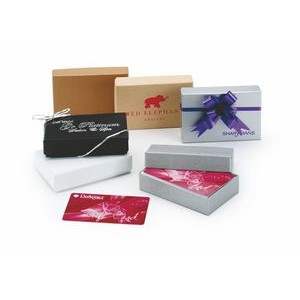 Colored Gift Card Boxes Unprinted (3 1/2