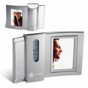 Curve Double-sided Photo Frame Digital Clock