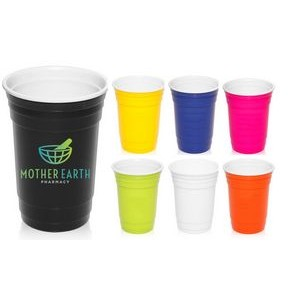 16 oz USA MADE Reusable Double Wall Insulated Plastic Gameday Beverage Travel Party Cups