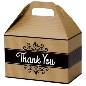 Thank You Kraft Stripes Gable Box