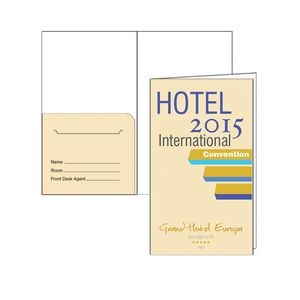 Digital Print Large Paper Stock Key Card Holder