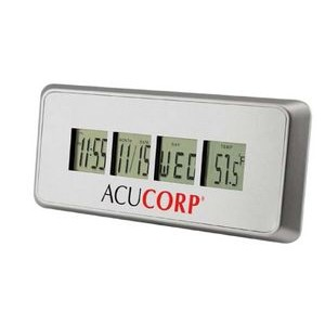 Columbus Brushed Metal Alarm Clock w/ Countdown Timer