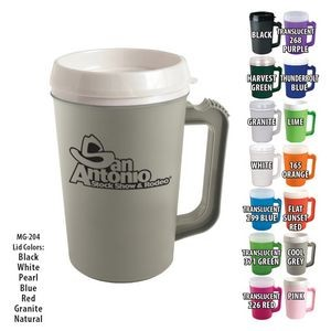 Mugs - 22 Oz. Grande Coffee Mug With Spill-Resistant Lid