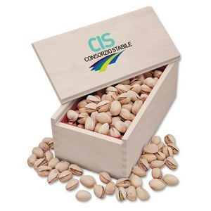 Jumbo California Pistachios in Wooden Collector's Box (4 Color Process)