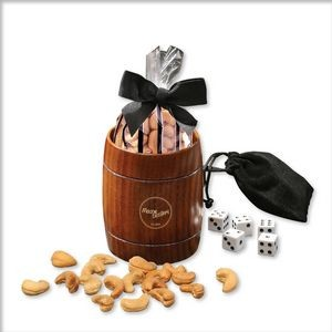 Classic Wooden Barrel Cup with Extra Fancy Jumbo Cashews