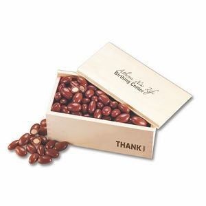 Chocolate Covered Almonds in Wooden Collector's Box