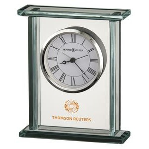 Howard Miller Cooper Rectangle Glass Corporate Gift Clock