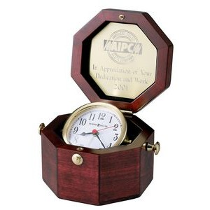 Howard Miller Chronometer Rosewood Octagon Captain's Clock