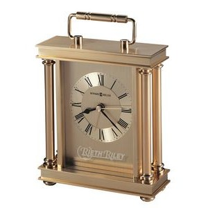 Howard Miller Audra Gold Carriage Alarm Clock w/ Decorative Handle