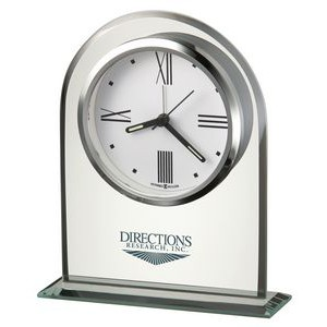Howard Miller Regent Glass Arch Alarm Clock