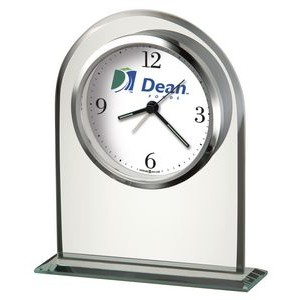 Howard Miller Regent Glass Arch Alarm Clock (Full Color Dial)
