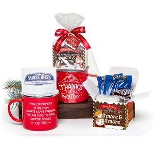 Thanks For All You Do Campfire S'mores Gift Set with Holiday Card and Bow