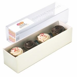 4 Piece Belgian Chocolate Cupcake Truffle in Gift Box