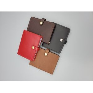 Business Leather Credit Card Case W/ Snap Closure