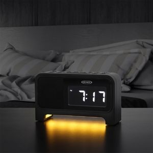 Jensen® Digital Dual Alarm Soothing Sounds Clock Radio with Night Light
