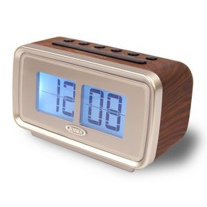 "Jensen AM/FM Dual Alarm Clock w/Digital Retro ""Flip"" Display"