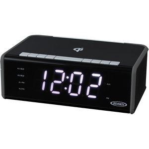 Jensen Clock Radio with Qi Charging