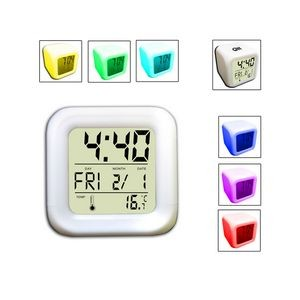 Cube Mood Clock with Musical Alarm