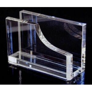 Crystal Business Card Holder (2 1/2