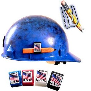 Hard Hat Adhesive Clip Pencil Holder Customized