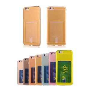 Ultrathin Plastic Phone 6 Case With Card Holder